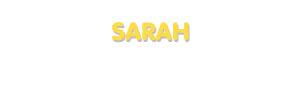 Der Vorname Sarah