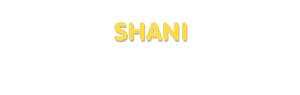 Der Vorname Shani