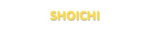 Der Vorname Shoichi