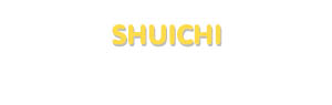 Der Vorname Shuichi
