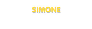 Der Vorname Simone