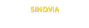 Der Vorname Sinovia