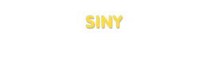 Der Vorname Siny