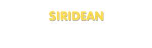 Der Vorname Siridean
