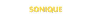 Der Vorname Sonique