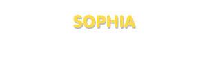 Der Vorname Sophia