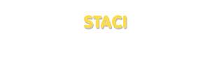Der Vorname Staci
