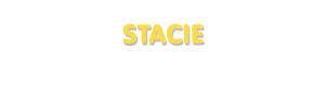Der Vorname Stacie