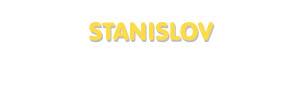 Der Vorname Stanislov