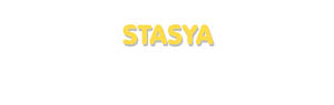 Der Vorname Stasya
