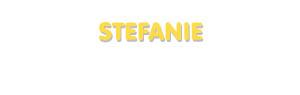 Der Vorname Stefanie