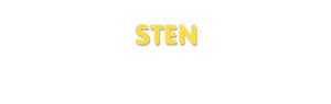 Der Vorname Sten