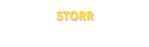 Der Vorname Storr