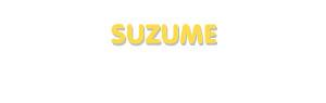 Der Vorname Suzume