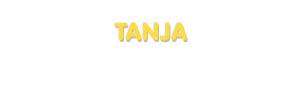 Der Vorname Tanja