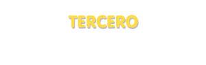 Der Vorname Tercero