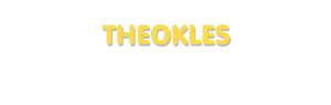 Der Vorname Theokles