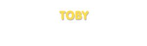 Der Vorname Toby
