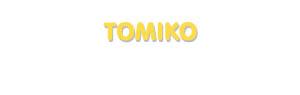 Der Vorname Tomiko