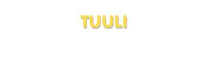 Der Vorname Tuuli