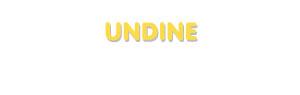 Der Vorname Undine