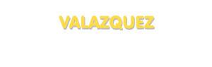 Der Vorname Valazquez