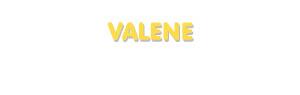 Der Vorname Valene