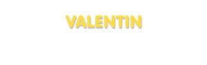 Der Vorname Valentin