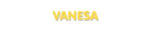 Der Vorname Vanesa