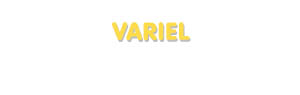 Der Vorname Variel