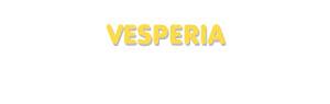 Der Vorname Vesperia
