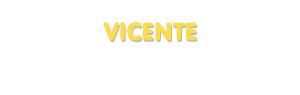 Der Vorname Vicente