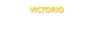 Der Vorname Victorio