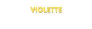 Der Vorname Violette