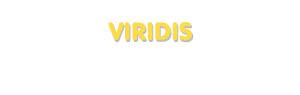 Der Vorname Viridis