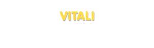 Der Vorname Vitali