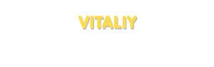 Der Vorname Vitaliy