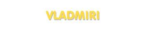 Der Vorname Vladmiri