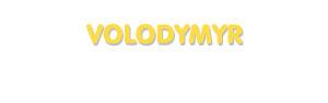 Der Vorname Volodymyr