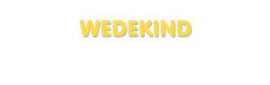 Der Vorname Wedekind