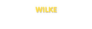 Der Vorname Wilke