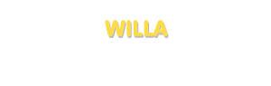 Der Vorname Willa