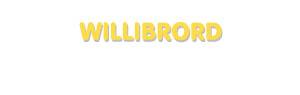 Der Vorname Willibrord