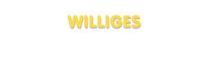Der Vorname Williges
