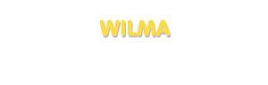 Der Vorname Wilma