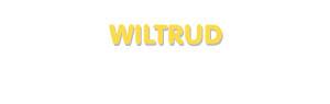 Der Vorname Wiltrud