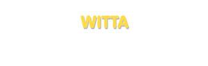 Der Vorname Witta