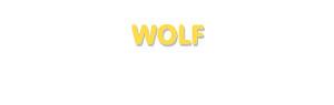 Der Vorname Wolf