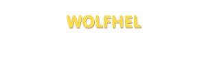 Der Vorname Wolfhel