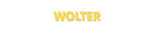Der Vorname Wolter
